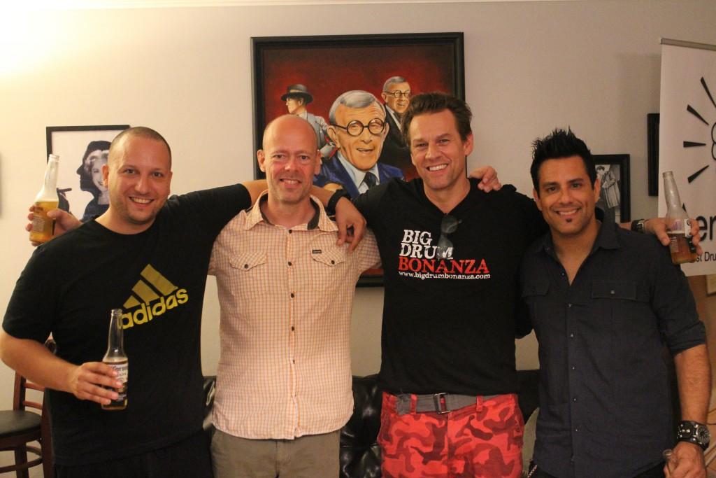 4. juli i godt selskab. Gergo Borlai, mig, Thomas Lang og Rich Redmond.